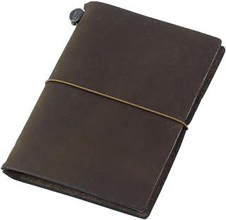 MIDORI TRAVELER'S Notebook 皮質筆記本 茶色 護照型