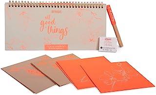 Stylex 42791 Boho Style 系列 书写笔 3 件套 带滚珠笔和墨盒 永恒周计划和卡片套装 彩色