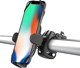 [ 2021 * ] 自行车手机支架,360° 可调节自行车支架,自行车车把手机支架,防划伤和防跌落设计,摩托车支架适用于 iPhone 12/11 Pro/Max,Galaxy S20/S10