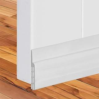 2 件装门挡板门下密封扫地器粘合胶带绝缘器阻隔器防风雨保护剥离降噪外部内部(白色)