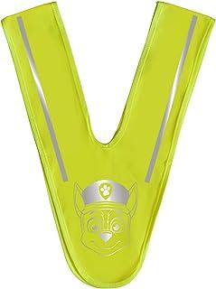 POS 31479 - 儿童警告背心,三角形形状,印有流行的狗狗巡逻队主题,霓虹黄*领带反光条,更好的街道交通中可见性