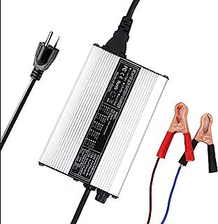 12V 6A 充电器 14.6V 6A LiFePO4 电池充电器 用于4S 12V 12.8V LiFePO4 电池带鳄鱼夹