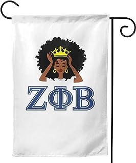 HSBHSJ Ze-Ta Phi Bet-A 旗帜双面垂直派对横幅旗帜露台草坪家居户外装饰 12x18 英寸