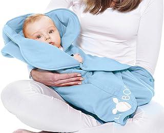 Wallaboo 婴儿提篮毛毯 儿童座椅 适用于婴儿车 甜美花朵造型 0 - 12 个月 颜色 红色 浅蓝色