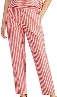 Rachel Roy 女式红色条纹裤子,尺码 2