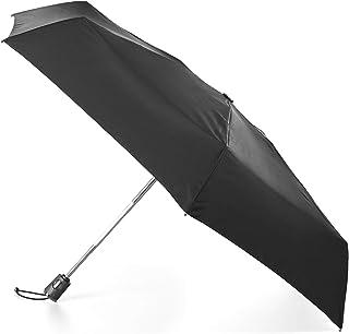 totes Titan 自动开合自动封闭防风防水折叠雨伞,NeverWet 技术,遮篷 111.76 cm 黑色