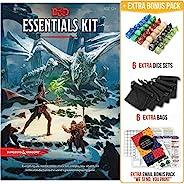 《地下城与龙》必备套装,* 5 版,带完整的入门套装 – 6 个 D&D 骰子套装,黑袋和 DND 初学者可