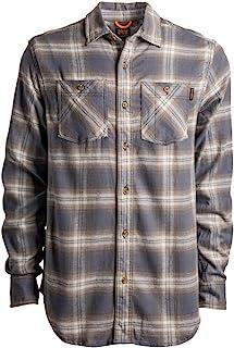 Timberland PRO Woodfort Flex 男士法蘭絨工作長袖格子襯衫(現代版)