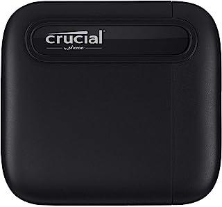 Crucial 英睿达 X6 1TB 便携式固态硬盘 – 高达 540MB/s – USB 3.2 – 外置固态硬盘 USB-C – CT1000X6SSD9