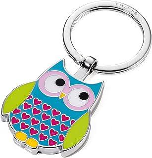 Troika 钥匙圈,猫头鹰,玫瑰色,蓝色 (KR1413BL)