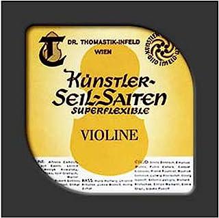 Thomastik-Infeld 37 超柔编织钢芯单碗低音弦,镀铬打伤,中等规格