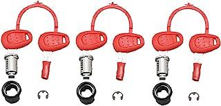 GIVI 备用钥匙套装(钥匙+圆筒) 外沟 红色 3件套 Z228 90170