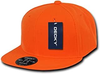 DECKY Orange Retro Fitted Baseball Caps