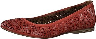 Tamaris 女士1-1-22107-24 皮革包闭芭蕾舞鞋