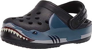 Crocs 儿童 Shark Band 洞洞鞋 | 幼儿、男孩、女孩一脚蹬水鞋