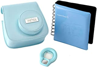 正品 Fujifilm Instax Mini 8 配件套件,带盒,相册和镜片 - 蓝色