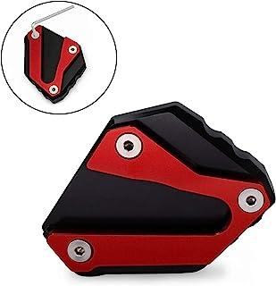 Worldmotop 摩托车支架垫侧支架板垫适用于本田金翼 1800 GL 1800 F6B GL1800 2018 2019 2020 放大扩展板脚垫(红色)