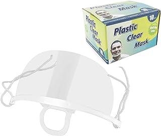 D.RECT 遮阳板透明防雾可重复使用件保护盾透明防护面罩面罩面罩下巴套装10件