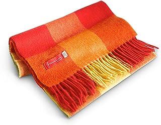 FIA 柔软温暖爱尔兰羊毛男士格子围巾,30.48 cm 宽 X 152.4 cm 长