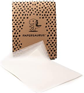 Papersaurus – 烘焙用羊皮纸– 不粘预裁片 – 食品级– 烤箱*板平底锅衬里 – 非常适合烘烤、空气炸和烹饪 – 30.48 x 40.64 厘米 – 白色 – 150 张