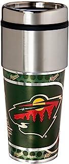 NHL 明尼苏达野生金属玻璃杯,均码,黑色