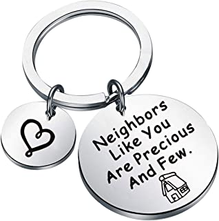 UJIMS 邻居礼品 新家钥匙链邻居 像你一样珍贵和几个钥匙链乔迁首饰适合女性男士搬家礼物