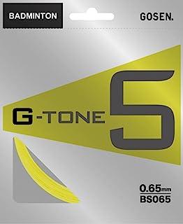 GOSEN(GOSEN) 羽毛球 石环 锆石 5 G-TONE 5 10m BS065 亮黄(FY)