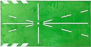 CALIDAKA 23 x 11 英寸(约 60.0 x 30.0 厘米)高尔夫训练垫,挥杆检测击球迷你高尔夫练习辅助游戏,便携式高尔夫训练草坪垫,家庭办公室户外游戏和礼物