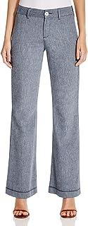 NYDJ 女式娇小尺寸 Claire 纹理亚麻长裤