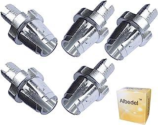 Albedel 5 件 7mm M7 自行车刹车手柄紧固件调整桶螺丝螺栓 MTB 自行车铝合金适用于山地自行车公路自行车 银色