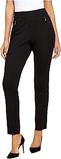 INC International Concepts 曲线拉链直筒裤,深黑色 2