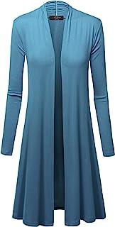 MBJ 女式长袖开襟长款开衫 - 美国制造