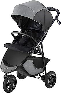 Aprica(阿普丽佳) 3轮婴儿车 Smoove 智能制动器 AC SMOOOVE Smart Brake AC 【送防雨罩和瓶架】 纹理灰色 GR 1个月~ (1年保修) 2112193