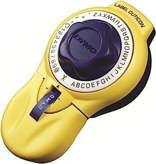 Dymo 标签打印机 ラベルキュティコン 英数字(大文字)・記号 黄色