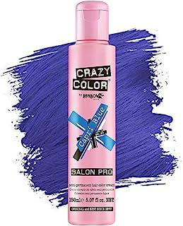 Crazy Color *剂 - 纯素和无残忍的半永久*剂 - 用于预亮或金发的临时* - 无需过氧化物或显影剂(CARPRI 蓝色)