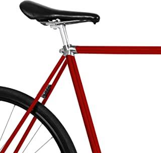 MOOXIBIKE Chillired 红色自行车薄膜,闪亮用于自行车,山地车,越野车,固定,荷兰自行车,城市自行车,滑板车,踏板车,大约 13 厘米框架周长。