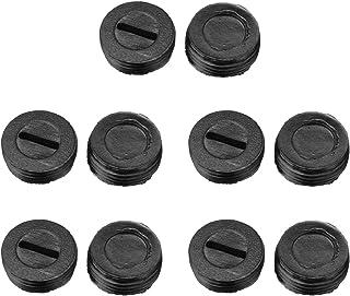 10 件 14 毫米 OD 外螺纹塑料电机碳刷支架盖黑色