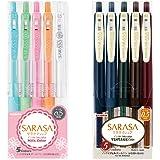 ZEBRA 斑马 凝胶圆珠笔 SARASA CLIP 0.5 牛奶&复古颜色 10色 A JJ15-10C-MK-VI…