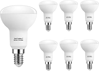 Tech Traders ® 反射器 R50 E14 LED 灯泡,7 瓦 LED 暖白/冷白小爱迪生螺钉灯泡,更换为 70 瓦灯泡,不可调光,60 瓦,LED 灯泡,SES 节能灯泡 暖白色 Pack of 6 R50E14-TP013-7W...