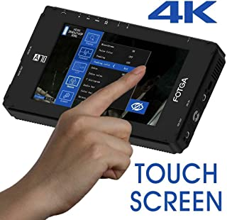 Fotga DP500IIIS A70T 触摸屏 7 英寸 FHD IPS 视频现场监视器,1920x1080,4K HDMI 输入/输出,双 NP-F 电池板,适用于数码单反相机无反光影院摄像机摄像机