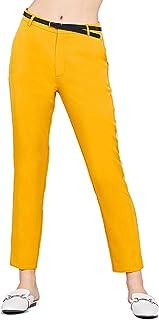 Khanomak 女式梭织长裤及踝修身侧口袋