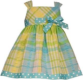 Bonnie Baby 女童格子图案太阳裙