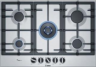 Bosch 博世 Serie 6 PCQ7A5B90 炉灶 不锈钢内置煤气体 – 炉灶 (不锈钢,内置煤气,不锈钢,1000 瓦,1750 瓦)