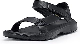 WALK PRO 凉鞋女士夏季鞋徒步凉鞋户外运动休闲散步黑色白色泡沫 Eva 尺寸 6 7 8 9 10 带宽防水运动舒适