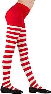 Widmann 01232 – 儿童连裤袜,红白条纹,70Den Pippi 长袜服装,长筒袜,各种尺码,主题派对,嘉年华