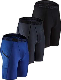 DEVOPS 男式 3 条装运动压缩凉爽干燥内衣