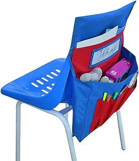 椅子口袋 适用于课堂 学生 学校椅 收纳包 口袋 椅子 背部 储物袋 悬挂袋 座位 伴侣 带姓名标签 宿舍 训练室 家庭幼儿园 幼儿园 幼儿园
