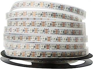 NooElec 1 米 60 像素可寻址24 位 RGB LED 指示灯带,5 伏,IP68 防水,WS2812B (WS2811),4 针 JST-SM 连接器预售至两端