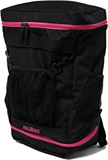 molten 篮球用背包 容量35L 黑色×粉色 LB0042-KM