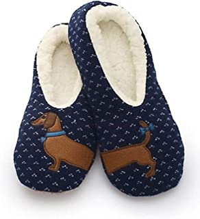 SHERPA 女式蓝色腊肠犬拖鞋/dachshund 拖鞋